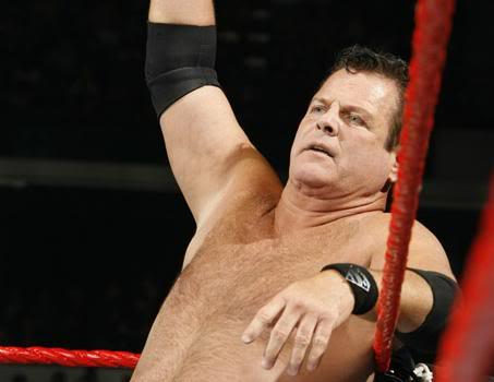 WWE Jerry Lawler Sitting On Rope