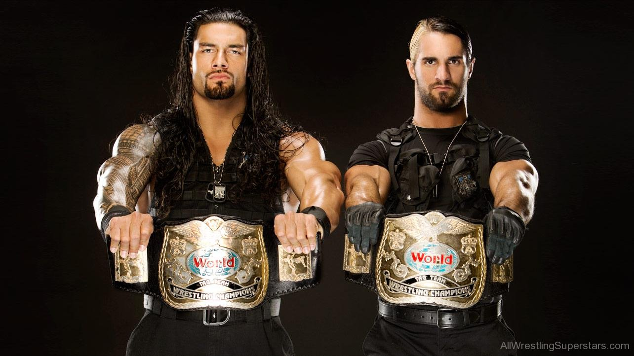 Wwe World Tag Team Champions Roman Reigns And Seth Rollins